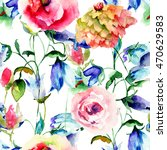 seamless pattern with colorful...   Shutterstock . vector #470629583