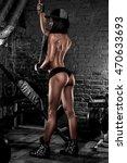 fitness girl in the gym | Shutterstock . vector #470633693