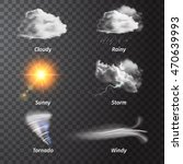 realistic set weather icon set... | Shutterstock .eps vector #470639993