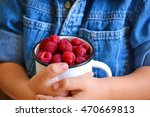 in the hands of a child juicy ... | Shutterstock . vector #470669813