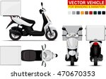 delivery scooter.  doors can be ... | Shutterstock .eps vector #470670353