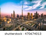 dubai skyline with beautiful... | Shutterstock . vector #470674013