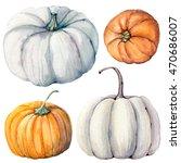 Watercolor Pumpkins Set. It Is...