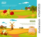 flat design horizontal banners... | Shutterstock .eps vector #470695523