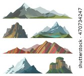mountain mature silhouette... | Shutterstock .eps vector #470734247