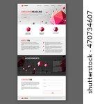 technology company landing page ...