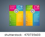 pricing table for websites  two ... | Shutterstock .eps vector #470735603
