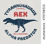 tyrannosaurus rex t shirt... | Shutterstock .eps vector #470738513