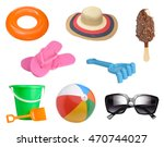 summer items collection... | Shutterstock . vector #470744027