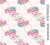 seamless floral pattern with... | Shutterstock .eps vector #470783423