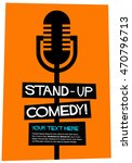stand up comedy   flat style... | Shutterstock .eps vector #470796713