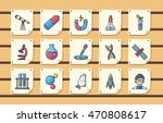 chemistry and science icons set ... | Shutterstock .eps vector #470808617