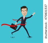 businessman or manager crosses... | Shutterstock .eps vector #470831537