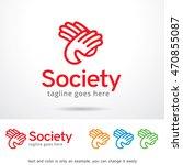 society logo template design... | Shutterstock .eps vector #470855087