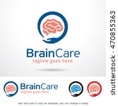 brain care logo template design ... | Shutterstock .eps vector #470855363