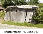 A Dilapidated Old Wooden Shed