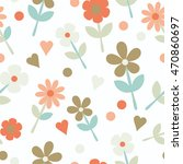 seamless pattern with... | Shutterstock .eps vector #470860697