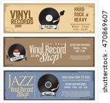 vinyl record shop retro grunge...   Shutterstock .eps vector #470869607