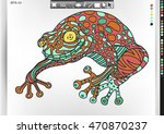 frog. animal patterns with hand ...   Shutterstock .eps vector #470870237