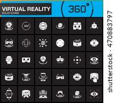 virtual reality solid icons set.... | Shutterstock .eps vector #470883797