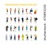 flat people portraits... | Shutterstock . vector #470892233