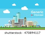 yet another generic cityscape... | Shutterstock .eps vector #470894117
