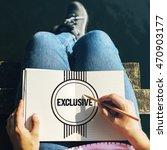 Small photo of Exclusive Confidential Private Solitude Graphic Concept