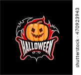 halloween logo  vector  icon ... | Shutterstock .eps vector #470923943