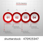 infographics step by step.... | Shutterstock .eps vector #470925347