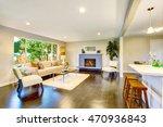 open floor plan. cozy living... | Shutterstock . vector #470936843