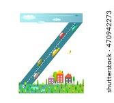 kids letter z sign cartoon...   Shutterstock .eps vector #470942273