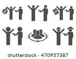 thief arrest vector icons.... | Shutterstock .eps vector #470957387