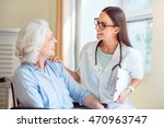nice nurse with senior patient | Shutterstock . vector #470963747