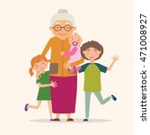 grandmother with her... | Shutterstock .eps vector #471008927