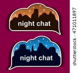stickers night chat | Shutterstock .eps vector #471011897