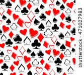 playing card suits on white... | Shutterstock .eps vector #471027983