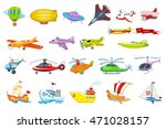 set of air and water transport... | Shutterstock .eps vector #471028157