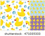 rubber duck seamless pattern ... | Shutterstock .eps vector #471035333