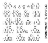 family icons set. vector... | Shutterstock .eps vector #471041933