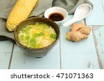 corn egg drop soup with spring...