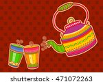 Vector Design Of Tea Kettle An...