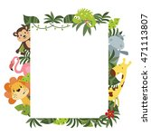frame with a variety of cute... | Shutterstock .eps vector #471113807