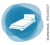 bed icon | Shutterstock .eps vector #471115217