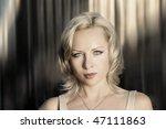 portrait of beautiful blond... | Shutterstock . vector #47111863