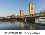 Gold Tower Bridge In Sacrament...