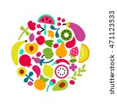 organic food concept. natural... | Shutterstock .eps vector #471123533