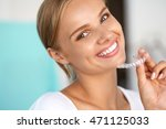 white teeth. closeup portrait... | Shutterstock . vector #471125033
