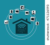 house home internet of things... | Shutterstock .eps vector #471126593