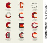 logo letter c element and... | Shutterstock .eps vector #471148907