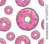 donuts with pink icing.... | Shutterstock .eps vector #471155717